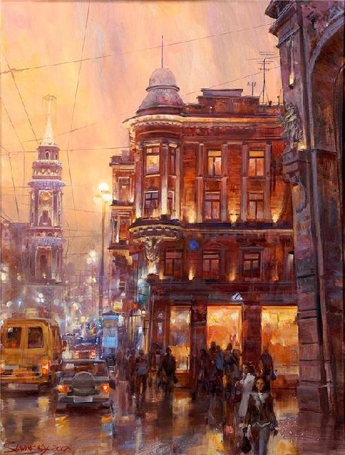 Огни ночного города. Автор: Иван Славинский