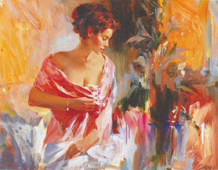 Девушка в красном. Автор: Иван Славинский