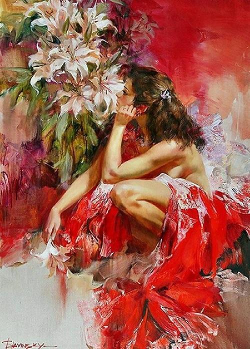 Девушка с лилиями. Автор: Иван Славинский