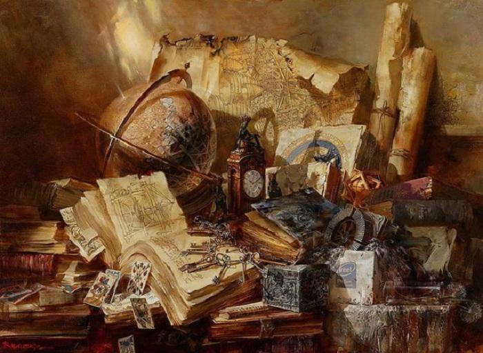 Натюрморт с глобусом. Автор: Иван Славинский