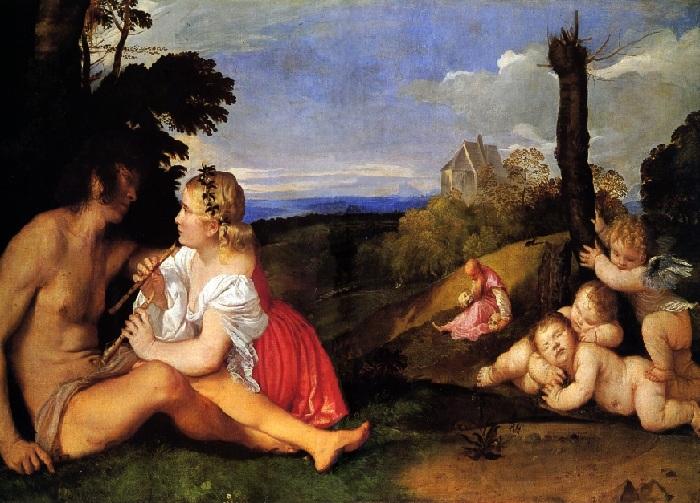 «Три возраста».(1512). Автор: Тициано Вечелио. Национальная галерея Шотландии (Эдинбург).