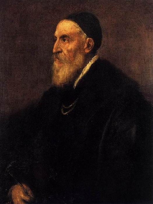 Автопортрет. (около 1567 года). Автор: Тициано Вечелио. Прадо.