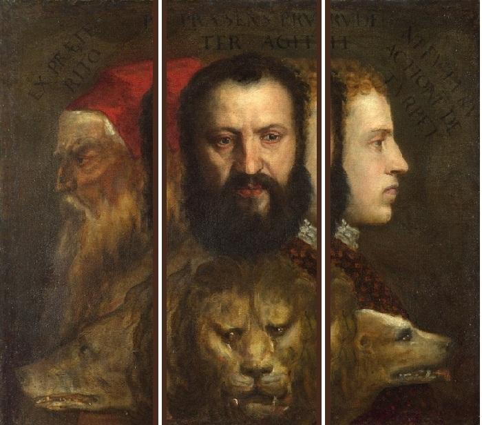 «Аллегория Времени, которым управляет Благоразумие.»(1565-1570). Автор: Тициано Вечелио.