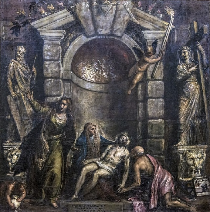 «Пьета – Оплакивание Христа». Автор: Тициано Вечелио.