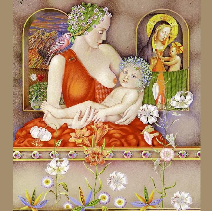 Мадонна с младенцем. Автор: Игорь Тюльпанов.
