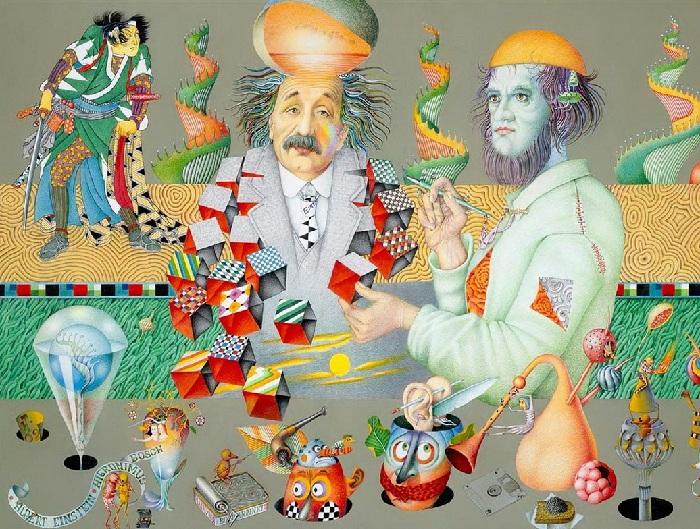 Альберт Эйнштейн и Иероним Босх. Автор: Игорь Тюльпанов.
