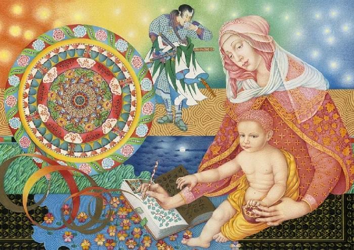 Мадонна и дитя. Автор: Игорь Тюльпанов.