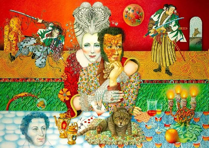 Пушкин и Пиковая дама. Автор: Игорь Тюльпанов.
