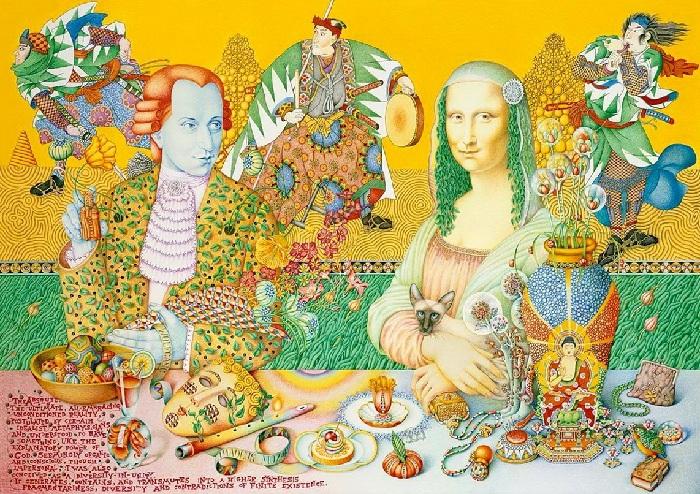 Моцарт и Мона Лиза. Автор: Игорь Тюльпанов.