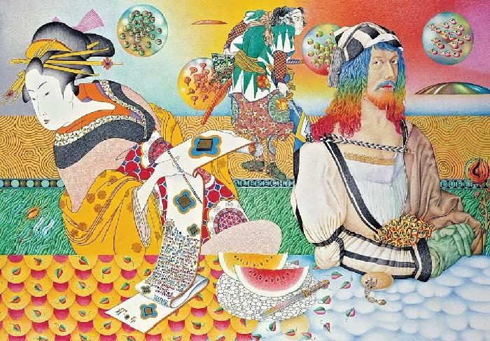 Альбрехт Дюрер и Муза японской поэзии. Автор: Игорь Тюльпанов.