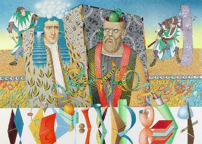 Ньютон и Сократ. Автор: Игорь Тюльпанов.