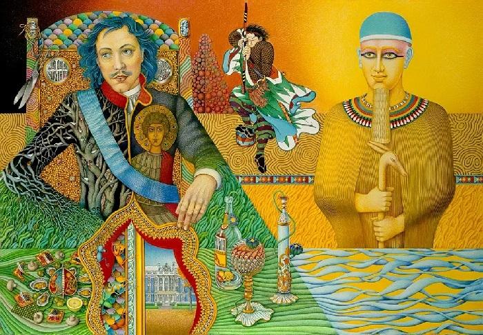 Петр I и Тутанхамон. Автор: Игорь Тюльпанов.