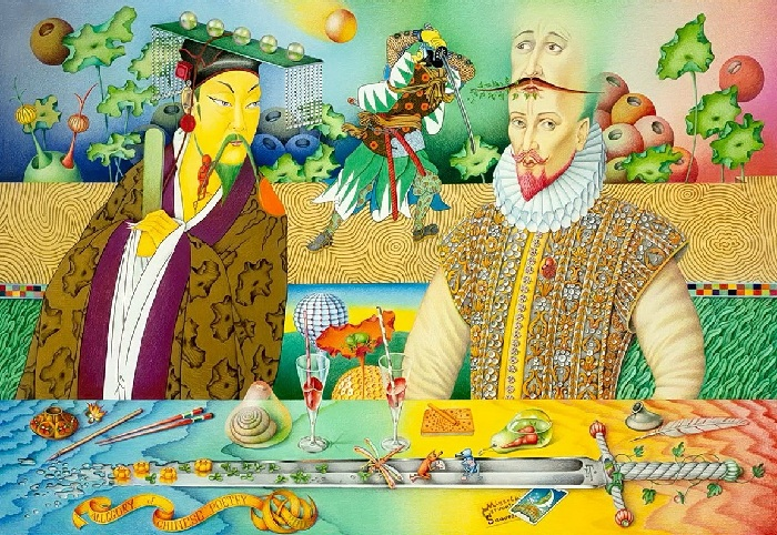 Сервантес и Китайский поэт.Автор: Игорь Тюльпанов.