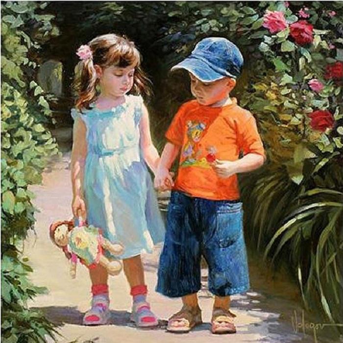 «В эту жизнь мы пришли все из детства из страны ярких красок и грёз.» Солнечная живопись от Владимира Волегова.