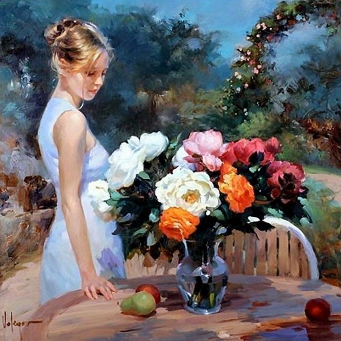 «Любая женщина-колдунья, создание ангела из тьмы.» Солнечная живопись от Владимира Волегова.