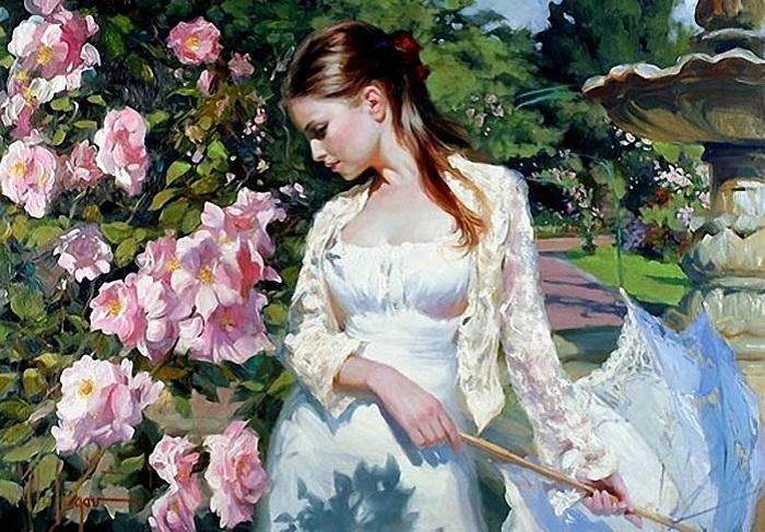 «Женщина – тайна небес, ни одним знатоком не разгадана.» Солнечная живопись от Владимира Волегова.