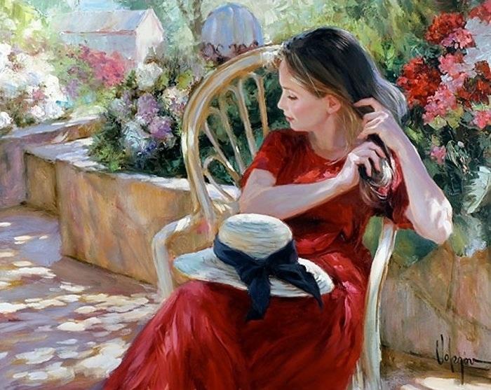 «Женщина - небесное созданье. Воплощенье сказочной мечты.» Солнечная живопись от Владимира Волегова.