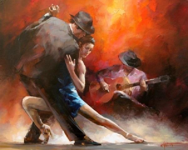 « ... чувства наши пламя гложет, в порыве страсти роковой...» Автор: Willem Haenraets.
