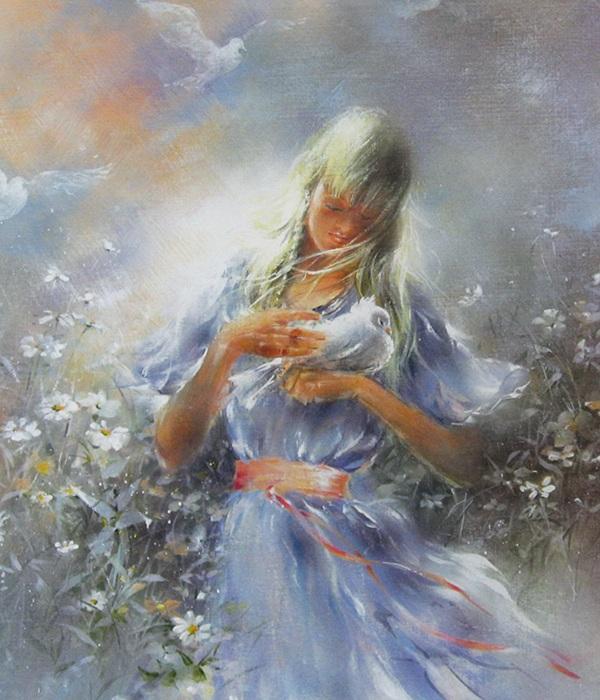 «Голубкой нежной обернусь апрельским утром... » Автор: Willem Haenraets.