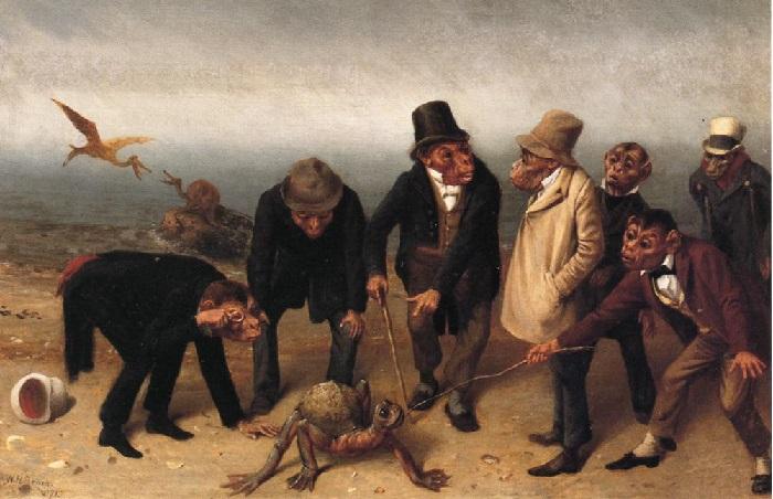 «Открытие Адама». (1891 год). Художник: William Holbrook Beard.