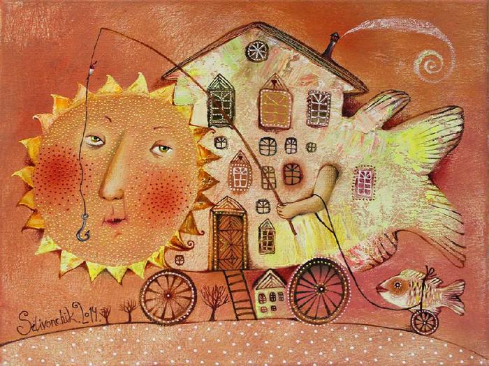Солнечный круг. Автор: Анна Силивончик. | Фото: evg-crystal.ru.