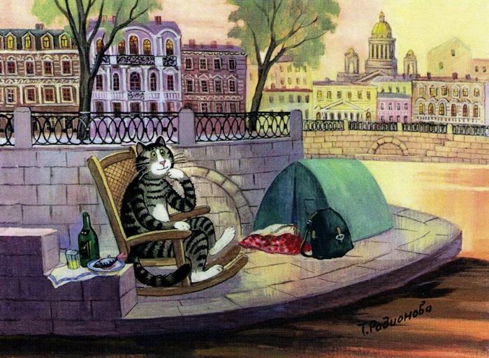 Пикник на берегу Невы.