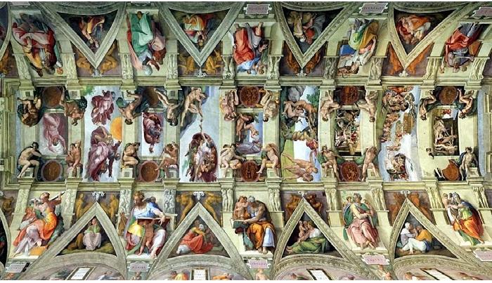 Роспись Сикстинской капеллы. Автор:  Микеланджело Буонарроти.