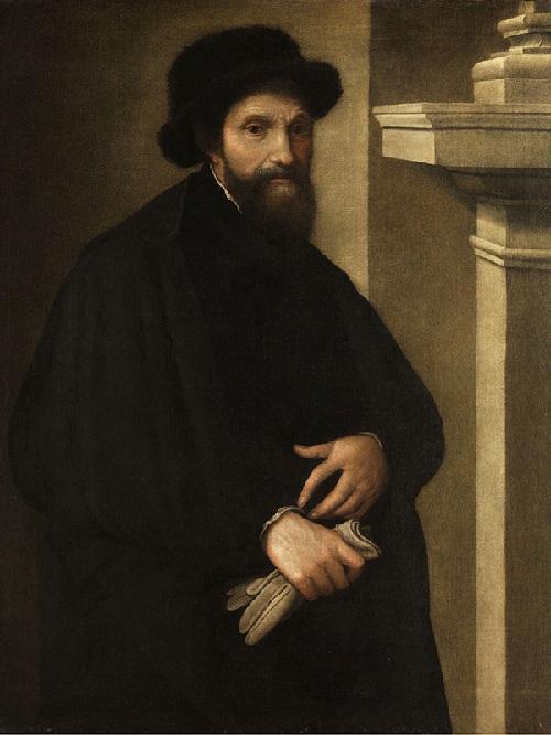 Автопортрет.  Микеланджело Буонарроти.