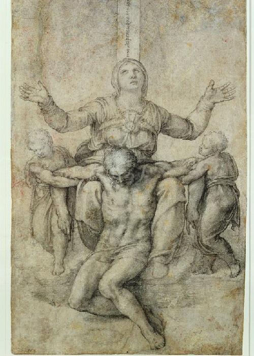 Проект надгробия Виттории Колонны работы Микеланджело.