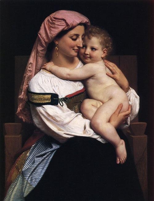 «Женщина из Червара и ее ребенок». Автор: William Bouguereau.
