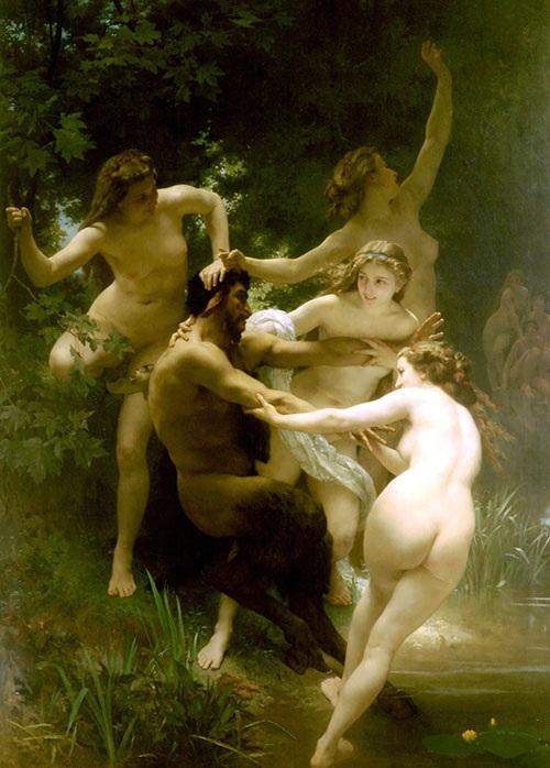 «Нимфы и Сатир». Автор: Адольф Вильям Бугро.