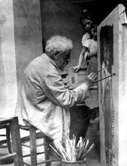 Вильям Бугро в мастерской.