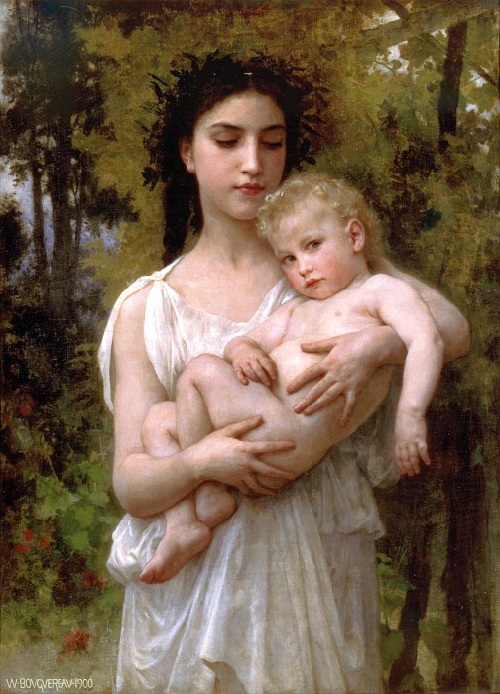 «Младший брат». Автор: William Bouguereau.