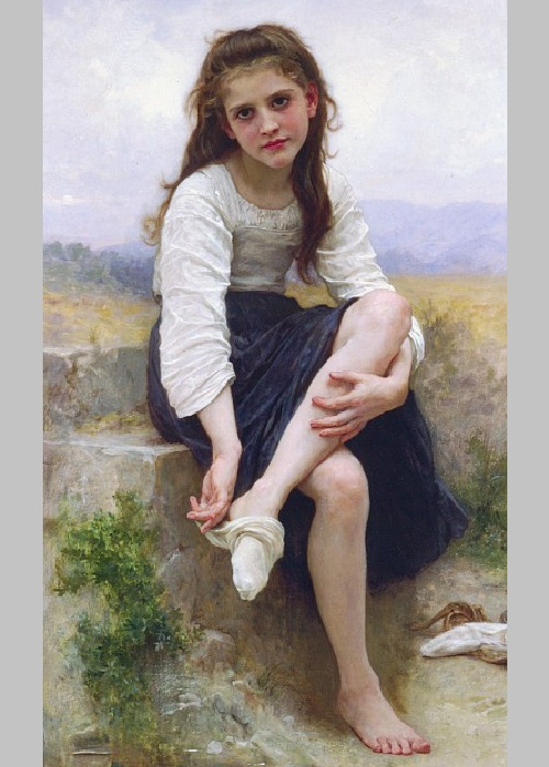 «Перед купанием». Автор: William Bouguereau.
