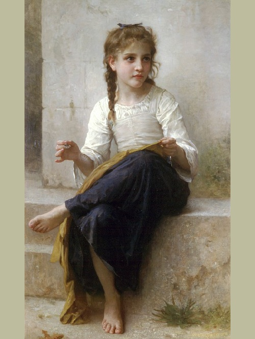 «Юная швея». Автор: William Bouguereau.