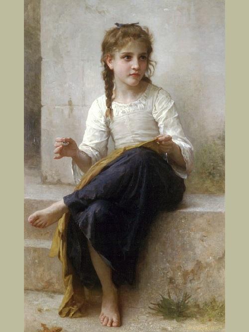 «Юная швея». Автор: William Bouguereau.