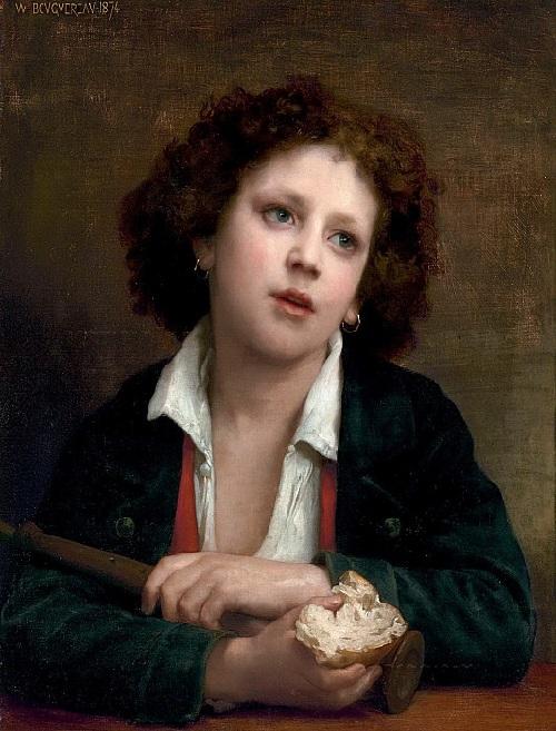 «Итальянский мальчик с куском хлеба». Автор: William Bouguereau.