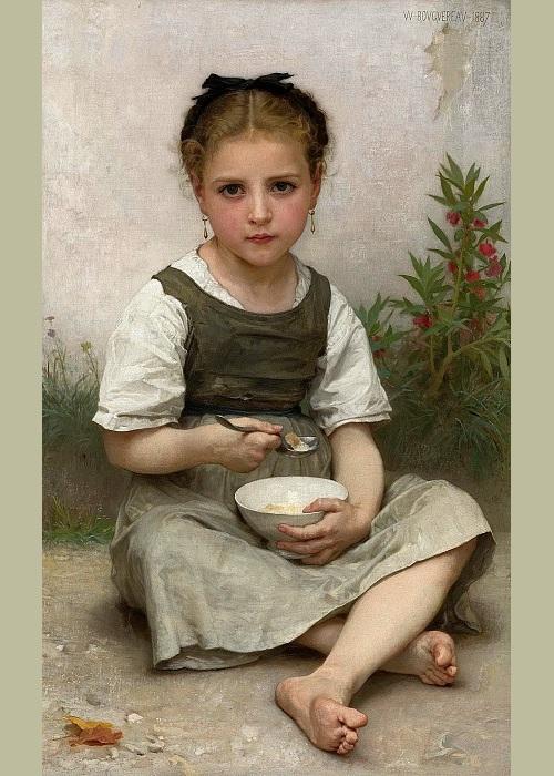 «Завтрак». Автор: William Bouguereau.