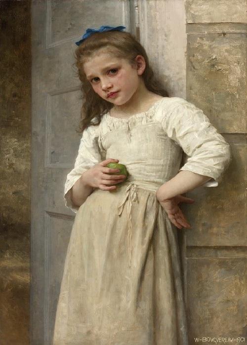 «Ивонна в дверях». Автор: William Bouguereau.