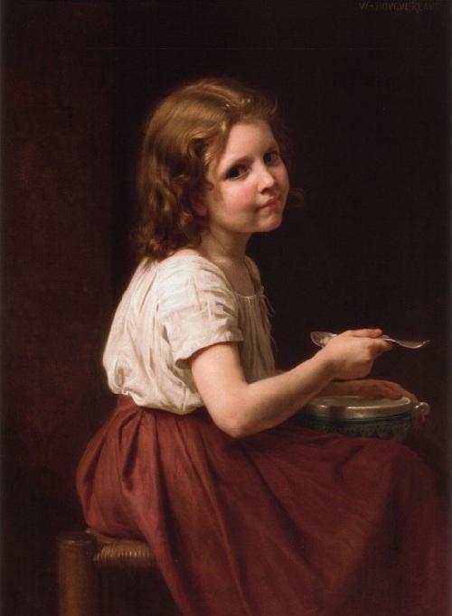 «Суп». Автор:  William Bouguereau.