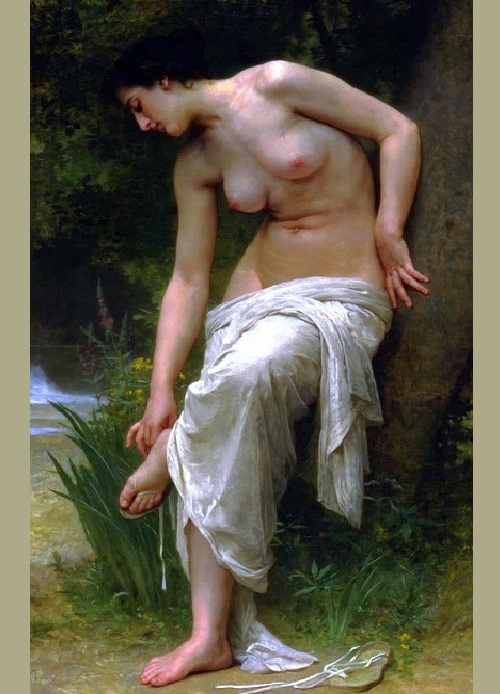 «После купания». Автор: William Bouguereau.