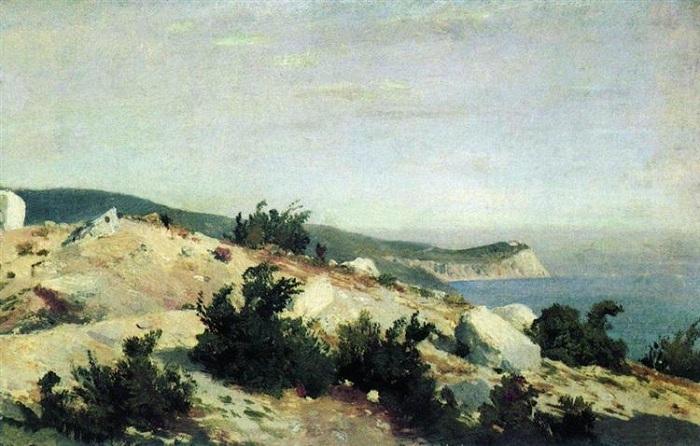 Мыс Ай-Тодор. Крым. (1879 год). Автор: Иван Шишкин.