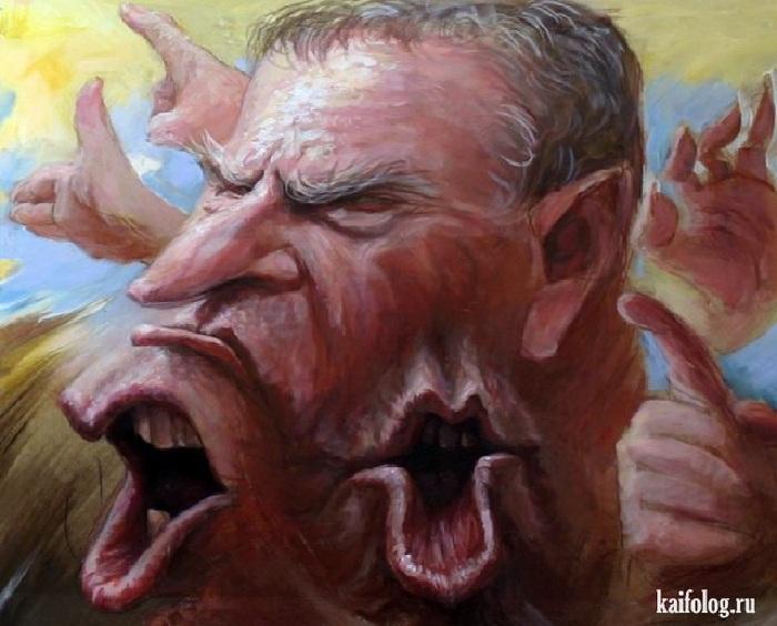 «Жириновского бывает сразу много, даже когда он один...». Карикатуры и шаржи от художника Дениса Лопатина