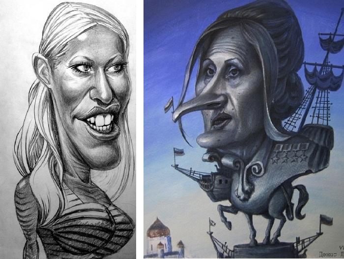 «Собчак». «Яровая». Карикатуры и шаржи от художника Дениса Лопатина