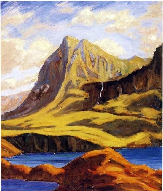 Горы возле Локмора. Шотландия. Автор: Уинстон Черчилль. | Фото: liveinternet.ru.