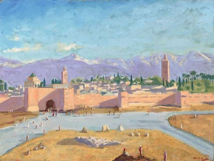 «Мечеть Кутубия». Автор: Уинстон Черчилль. | Фото: liveinternet.ru.