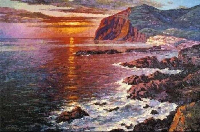 Бухта Камара де Лобос. Мадейра. Автор: Уинстон Черчилль. | Фото: liveinternet.ru.