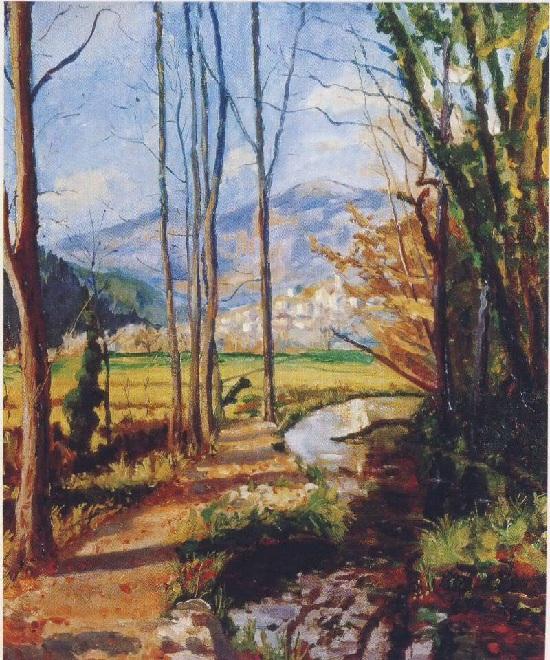 Вид на реку Вар. Франция. Автор: Уинстон Черчилль. | Фото: liveinternet.ru.