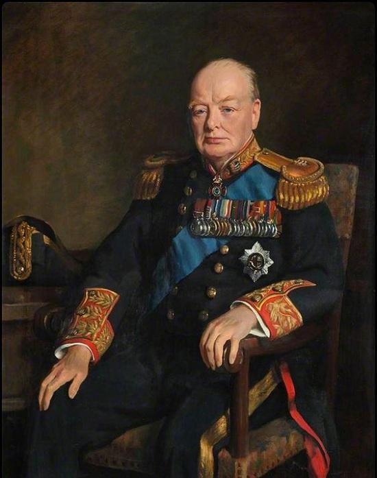 Уинстон Черчилль. Парадный портрет. | Фото: collections.rmg.co.uk