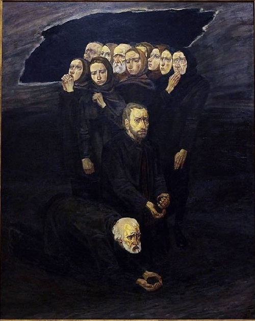 «Плач о земле». Художник: Михаил Савицкий.